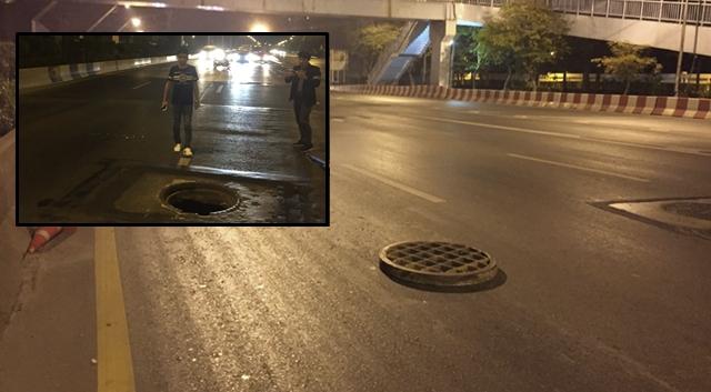 ถนนวิภาวดี ฝาท่อระบายน้ำ อุบัติเหตุ