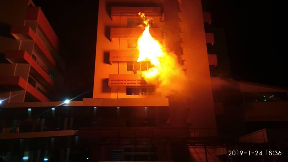ข่าวจังหวัดเลย ข่าวสดวันนี้ แผนหนีไฟ โรงพยาบาลจังหวัดเลย ไฟไหม้โรงพยาบาล