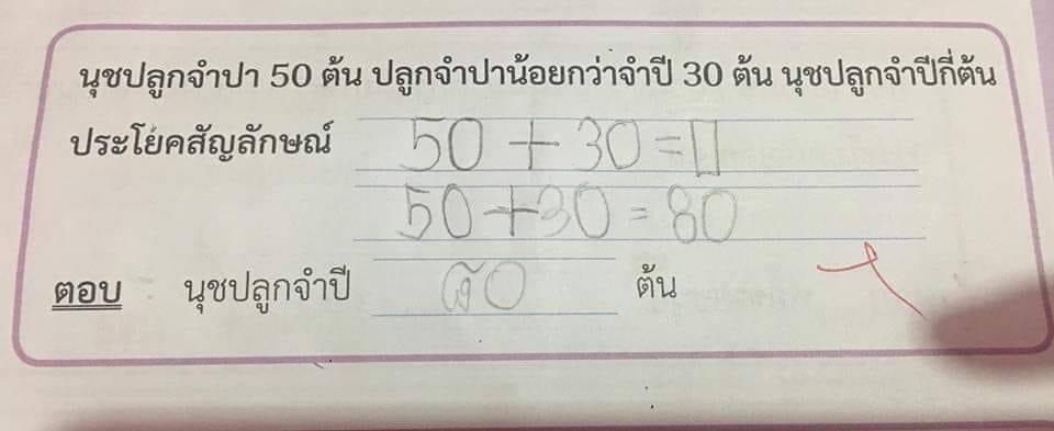 คุณครู นักเรียน เด็ก โจทย์คณิต