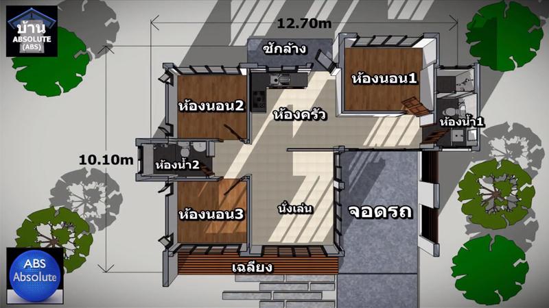 ค่าก่อสร้าง บ้านแนวโมเดิร์น พื้นที่ใช้สอย ห้องนอน ห้องน้ำ แบบบ้าน แบบบ้านขนาดเล็ก แบบบ้านแนวโมเดิร์น
