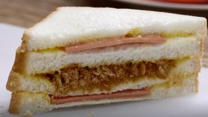 กินข้าวกัน ขนมปัง หมูหยอง แซนวิช แซนวิชโบราณ