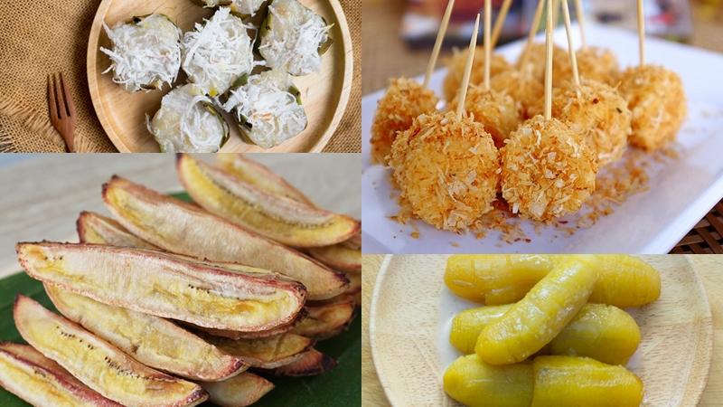 รวมสูตรกล้วยแบบคลีน รวมสูตรเมนูกล้วย อาหารคลีน อาหารเพื่อสุขภาพ เมนูกล้วย