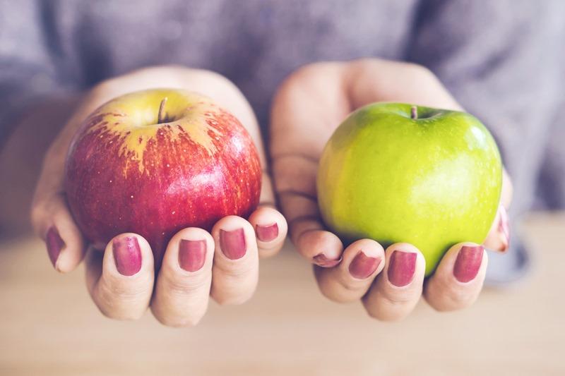 ผักผลไม้ วิตามิน สับปะรด แคลเซียมสูง แอปเปิ้ล