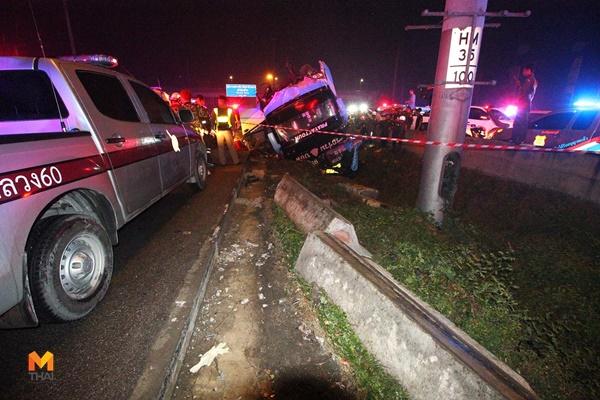 รถชน รถทัวร์พลิกคว่ำ อุบัติเหตุ