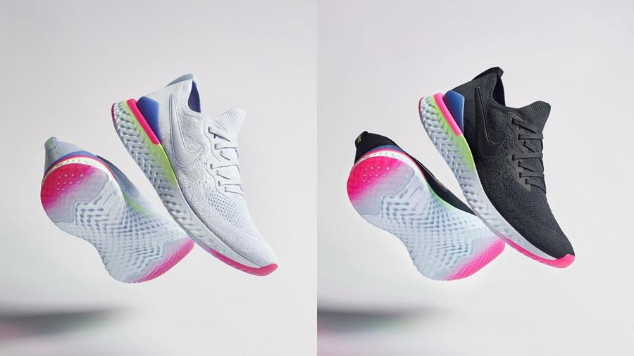 8-bit Epic React Flyknit 2 fashion flyknit nike Pixel Sneaker รองเท้าวิ่ง สนีกเกอร์ แฟชั่น