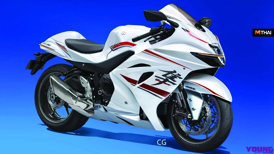 biker Hayabusa Kawasaki ZX-14R suzuki Suzuki Hayabusa Young Machine Magazine ภาพ Render รถ Bigbike