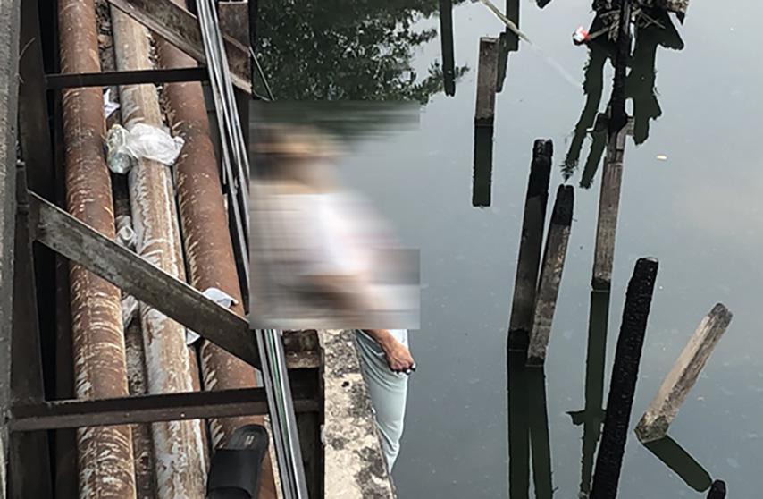 คลองสะพานใหม่ ผูกคอตายใต้สะพาน