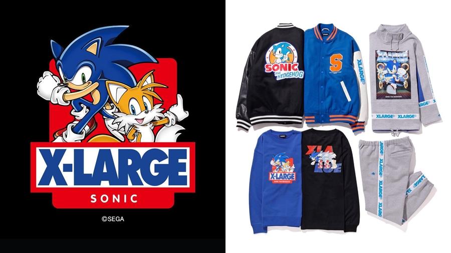 Collaboration fashion sonic Sonic the Hedgehog streetwear Tails XLARGE วิดีโอเกมส์ สตรีทแวร์ แฟชั่น