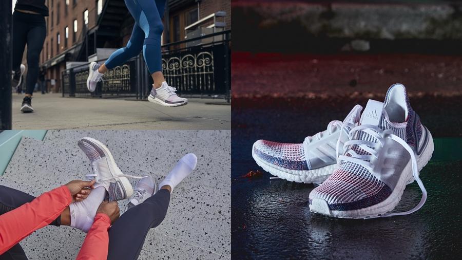 adidas adidas Running Boost Primeknit Refract running Sneaker Triple White UltraBOOST Ultraboost 19 รองเท้าวิ่ง สนีกเกอร์ อาดิดาส