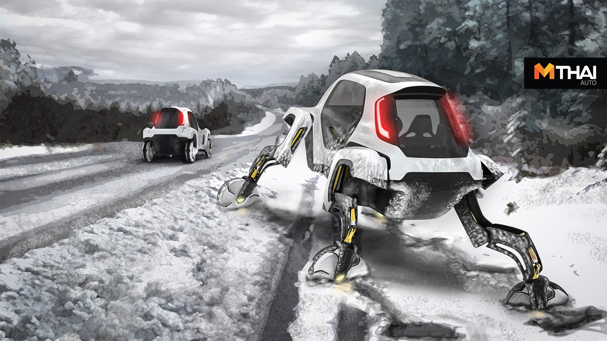 Elevate Concept hyundai รถยนต์เดินได้ รถยนต์ไฟฟ้า หุ่นยนต์