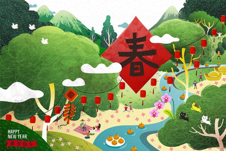 Chinese New Year The Spring Festival คำศัพท์ภาษาอังกฤษ คำศัพท์วันตรุษจีน วันตรุษจีน วันปีใหม่จีน เทศกาลตรุษจีน