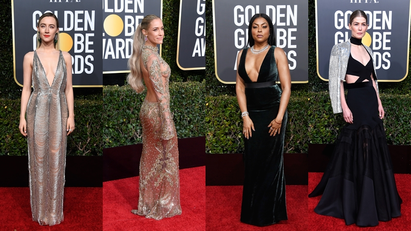 Golden Globe Awards 2019 งานพรมแดง ชุดราตรี