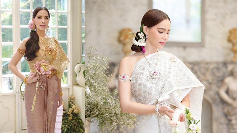 Vanus Couture - วนัช กูตูร์ ชุดผ้าไหมยกลำพูน ชุดไทย มาช่า-วัฒนพานิช แต่งชุดไทย