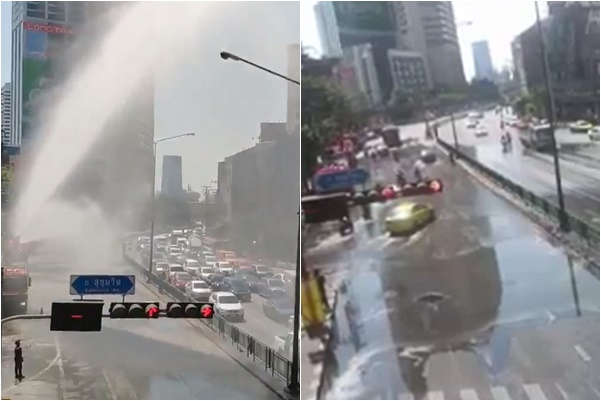 PM2.5 ฉีดน้ำ ฝุ่น แยกอโศก