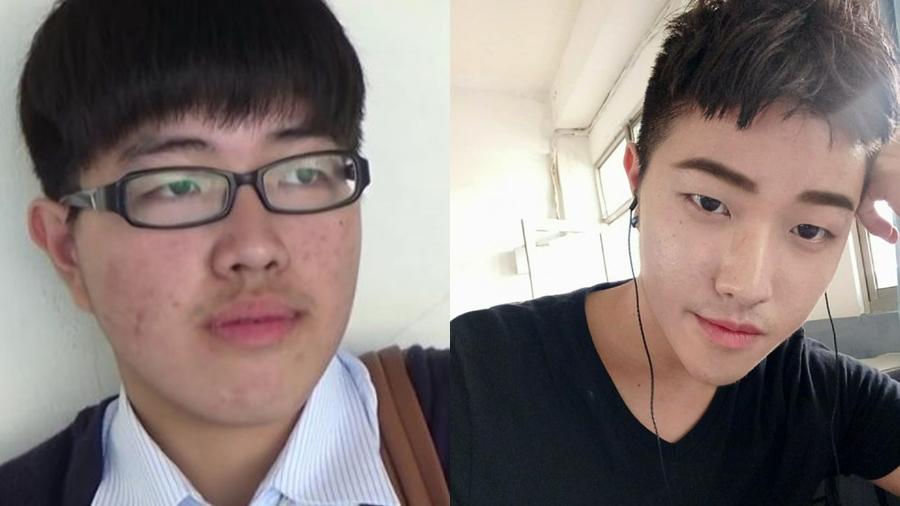 ผิวพรรณ หนุ่มจีนเรียนเสริมหล่อจากยูทูป เสริมหล่อ แต่งหน้า