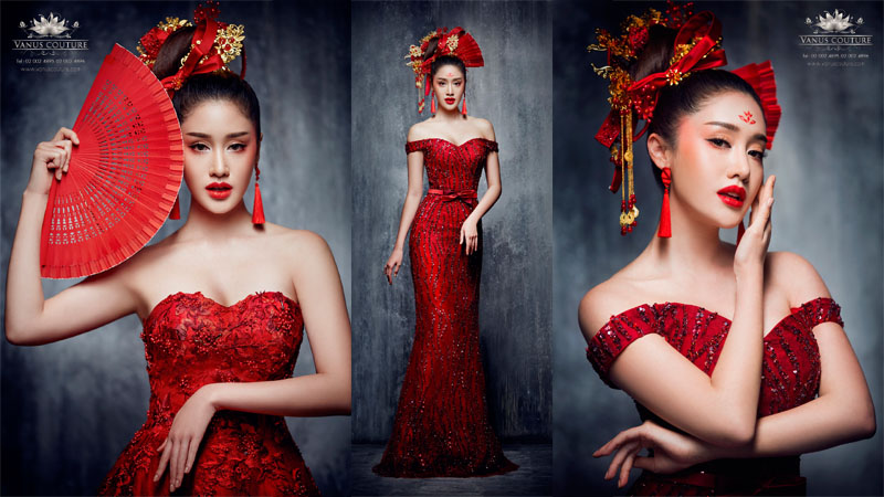 ชุดยกน้ำชา ชุดแต่งงาน ชุดแต่งงานพิธีจีน พิมประภา ตั้งประภาพร
