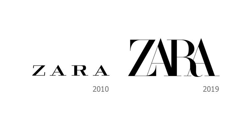 ZARA เปลี่ยนโลโก้