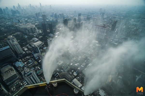 PM2.5 กทม. ฉีดน้ำ ตึกใบหยก ฝุ่นละออง
