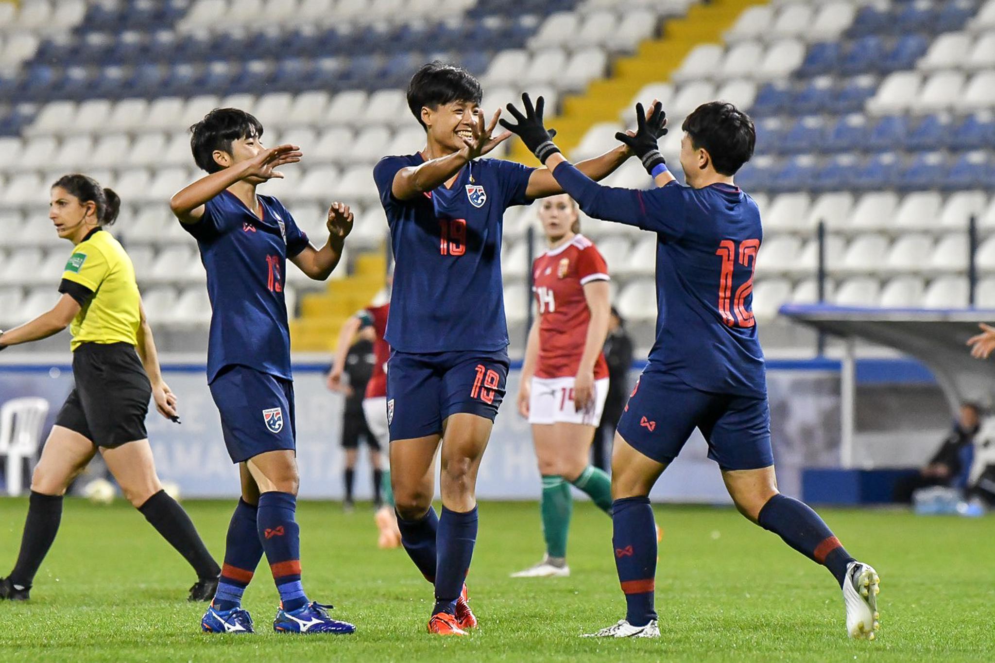 ฟุตบอลหญิงทีมชาติไทย สุชาวดี นิลธำรงค์ อรทัย ศรีมะณี ไซปรัส คัพ 2019