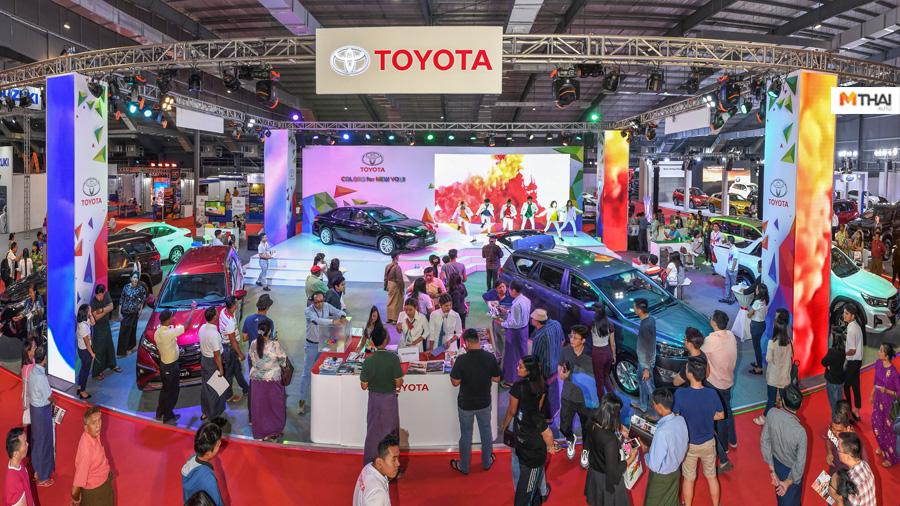 BMW DFM ford SCANIA suzuki The 1st Yangon International Motor Show Toyota Yangon International Motor Show บริษัท กรังด์ปรีซ์ อินเตอร์เนชั่นแนล จำกัด มหาชน ประเทศเมียนมาร์ มหกรรมยานยนต์ครั้งแรกที่เมืองย่างกุ้ง