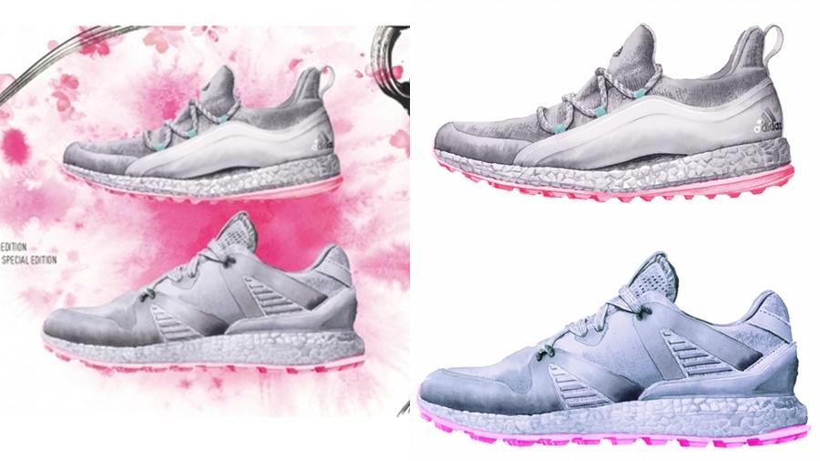 adidas Sneaker ชมดอกซากุระ รองเท้า สตรีทแฟชั่น สนีกเกอร์ สนีกเกอร์ธีมซากุระ แฟชั่น