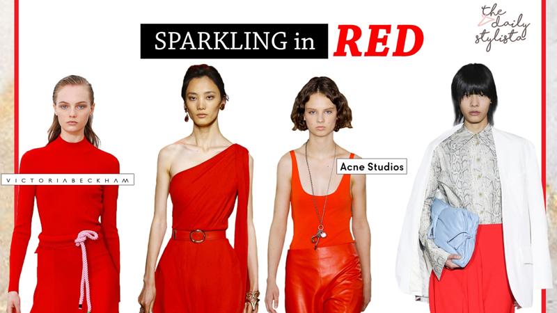 Sparkling in red ชุดสีแดง วิธีแต่งตัวสีแดง เสื้อผ้าสีแดง แต่งตัวสีแดง แฟชั่นชุดสีแดง แมทช์สีแดง