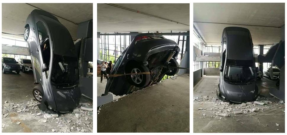 ข่าวสดวันนี้ ข่าวอุบัติเหตุ ตกลานจอดรถ ลานจอดรถ