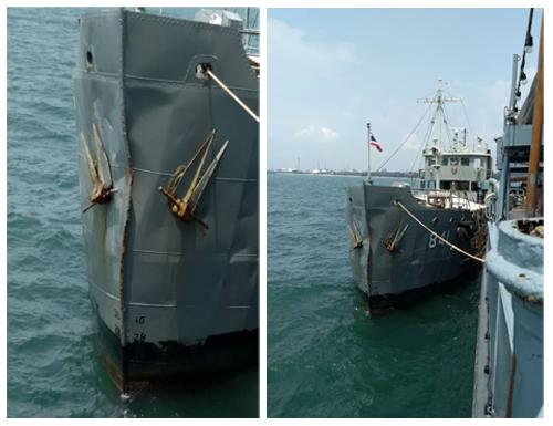 กองทัพเรือ ข่าวสดวันนี้ เรือชนกัน เรือหลวงจวง