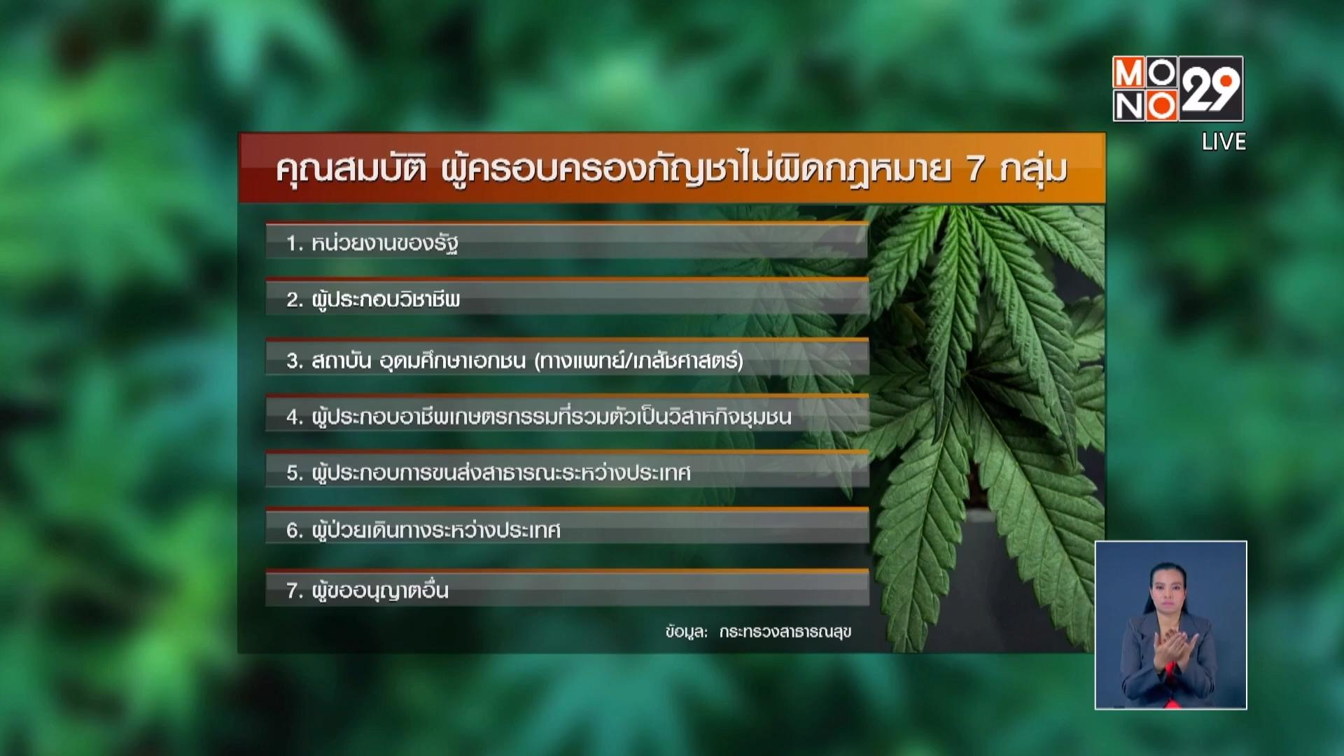 กฎหมายยาเสพติด กระทรวงสาธารณสุข กัญชา ข่าวMono29