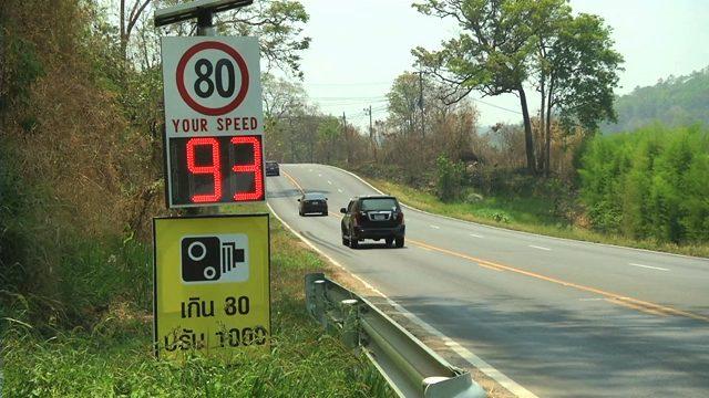 ควบคุมความเร็ว ตำรวจ อัตราความเร็วรถ