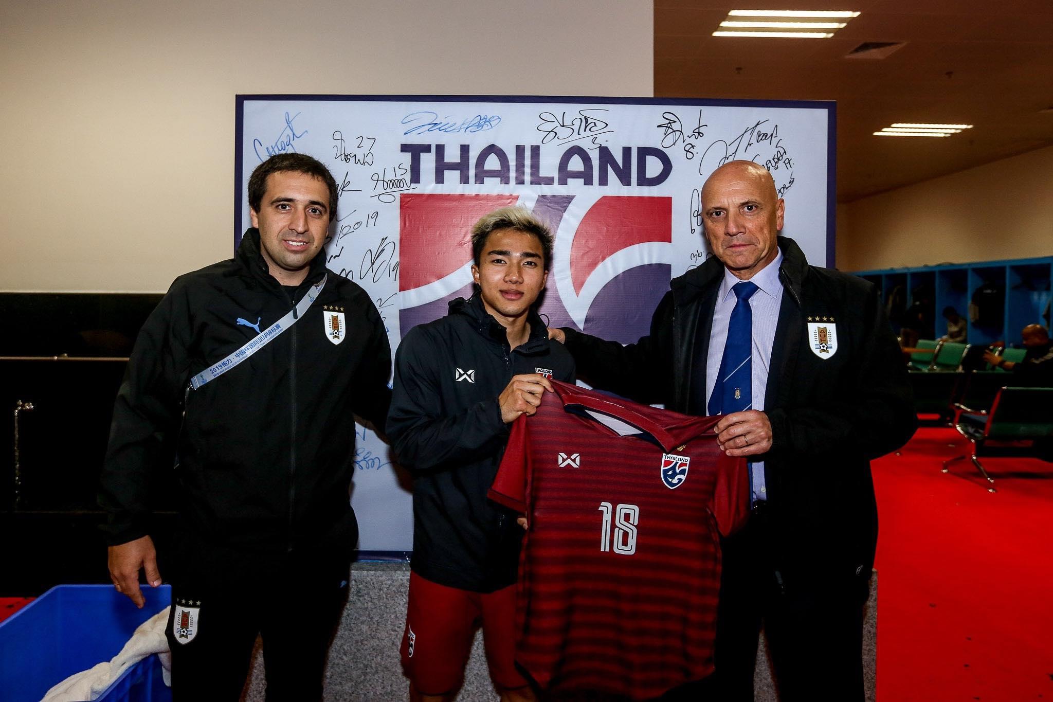 ชนาธิป สรงกระสินธ์ ทีมชาติอุรุกวัย ทีมชาติไทย ไชน่า คัพ 2019