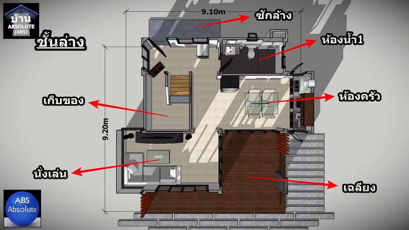 แบบบ้าน แบบบ้านขนาดเล็ก แบบบ้านสองชั้น