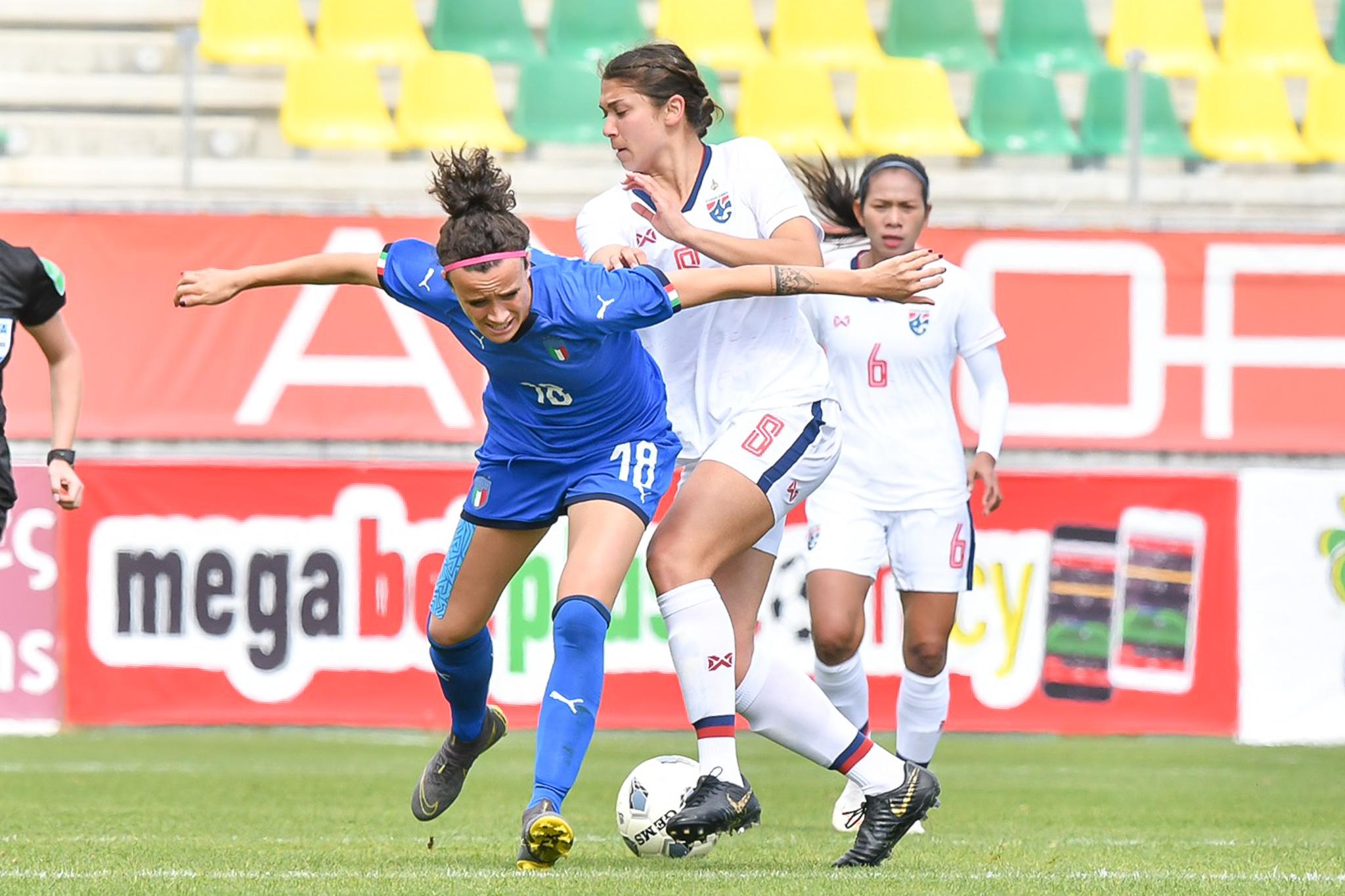 ฟุตบอลหญิงทีมชาติอิตาลี ฟุตบอลหญิงทีมชาติไทย ไซปรัส คัพ 2019