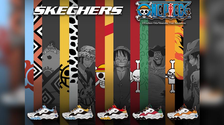 D'Lites 3.0 fashion Jinbe Marshall D. Teach Monkey D. Luffy One Piece Portgas D. Ace SKECHERS Sneaker Toei Animation Trafalgar Law การ์ตูน รองเท้า วันพีช สนีกเกอร์