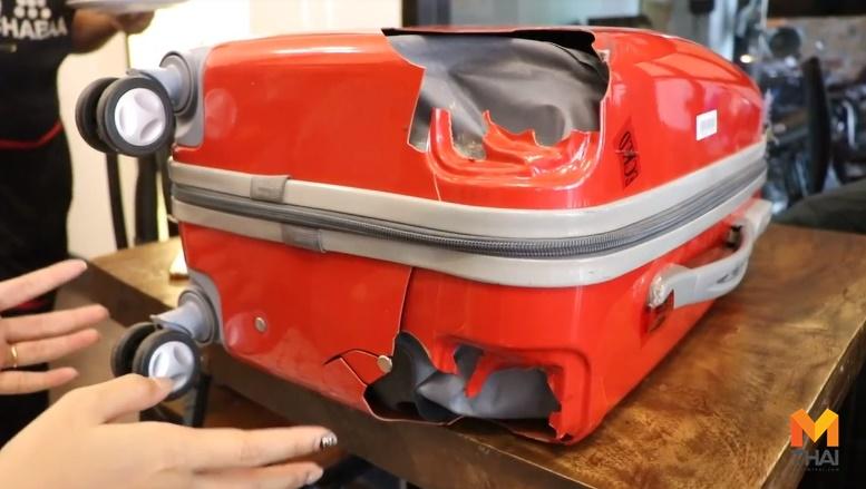 กระเป๋าพัง สายการบิน สายการบินดังทำกระเป๋าพัง