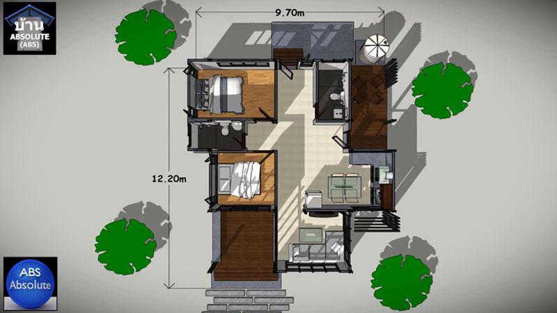 บ้านแนวโมเดิร์น สไตล์ลอฟท์ แบบบ้าน