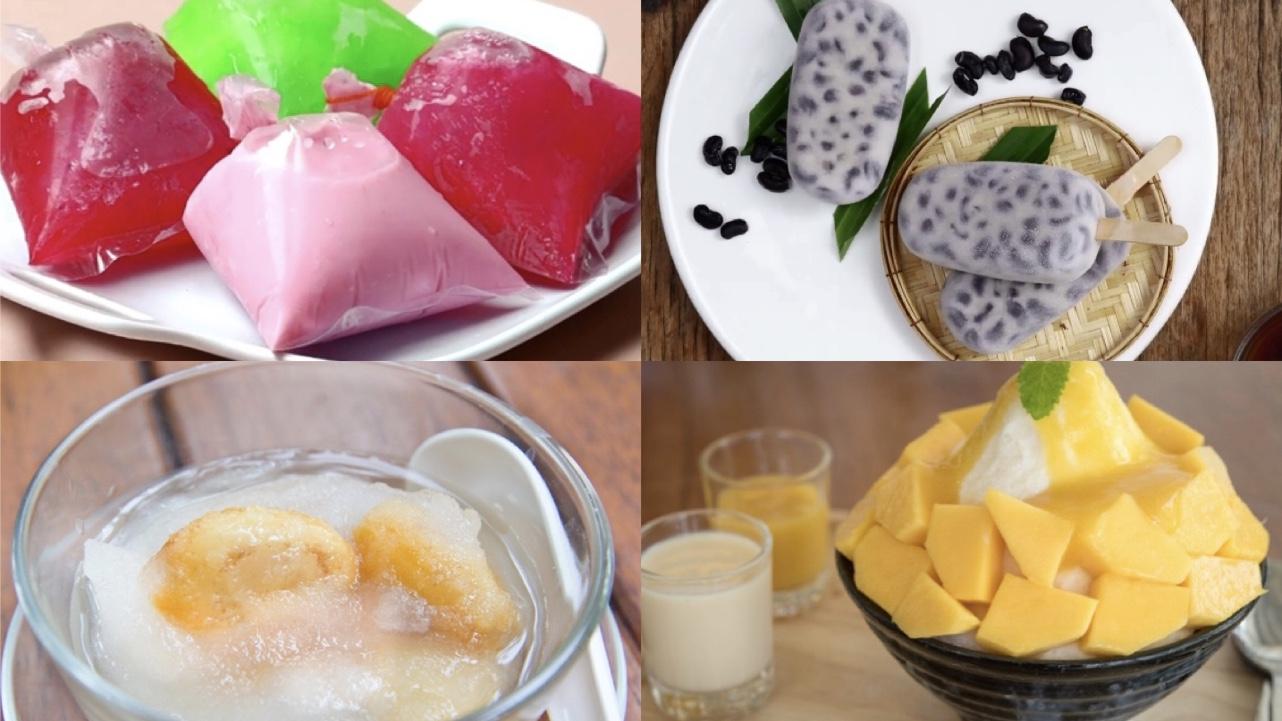 บิงซู ลอดช่องสิงคโปร์ สละลอยแก้ว สูตรขนม สูตรอาหาร สูตรไอศกรีม หวานเย็น เมนูคลายร้อน เมนูหวานเย็น แตงโมปลาแห้ง ไอศกรีม ไอศครีม