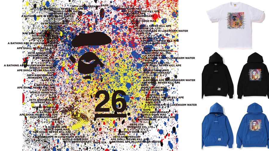 26th Anniversary A BATHING APE Ape Head Bape fashion NIGO streetwear สตรีทแวร์ แฟชั่น