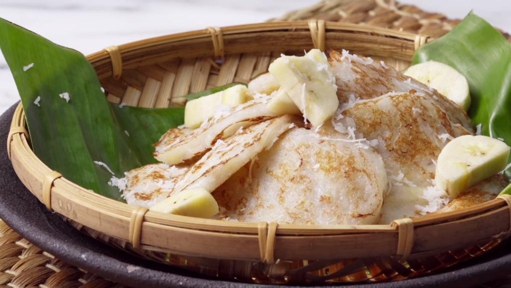 ขนมกล้วยจี่ สูตรขนม สูตรอาหาร เมนูกล้วย