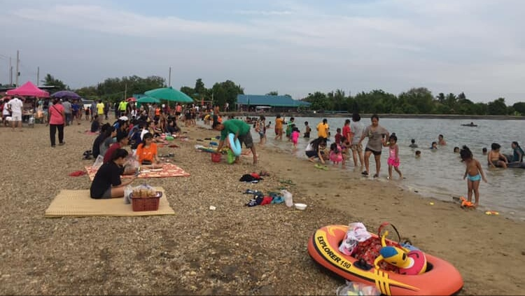 ทะเลน้ำจืด ที่เที่ยวนนทบุรี นนทบุรี หาดทรายเทียม หาดเติมรัก เที่ยวนนทบุรี เที่ยวใกล้กรุงเทพ
