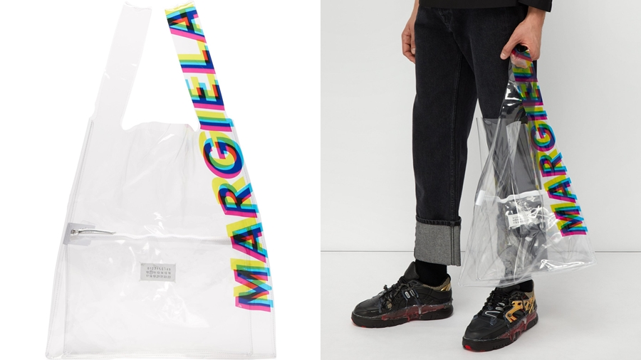 CMYK fashion John Galliano Maison Margiela PVC ถุง พลาสติก แฟชั่น