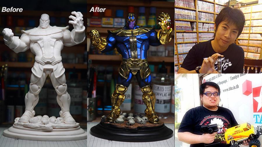 End Game Thanos งานศิลปะ ธานอส ศิลปะ โมเดล