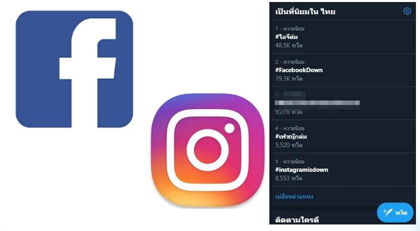 Facebook Instagram เฟซบุ๊กล่ม ไอจีล่ม