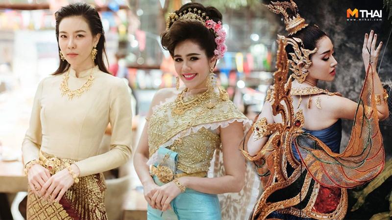 ชุดไทยร่วมสมัย ทำผมชุดไทย เทพีมหาสงกรานต์ แต่งชุดไทย แต่งหน้าชุดไทย