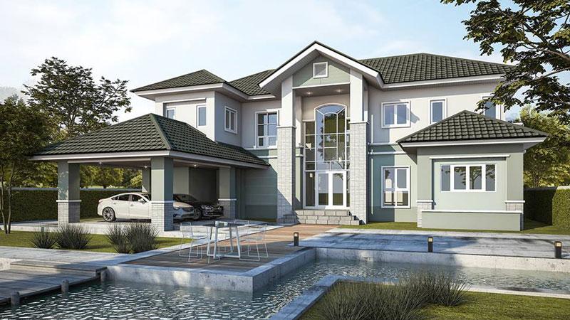 บ้านแนวคอนเทมโพรารี่ แบบบ้าน