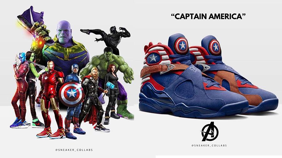 Avengers Avengers: Endgame captain america Hulk iron man Nike Air Thanos The Avengers Thor รองเท้าผ้าใบ สนีคเกอร์ อเวนเจอร์ : เผด็จศึก
