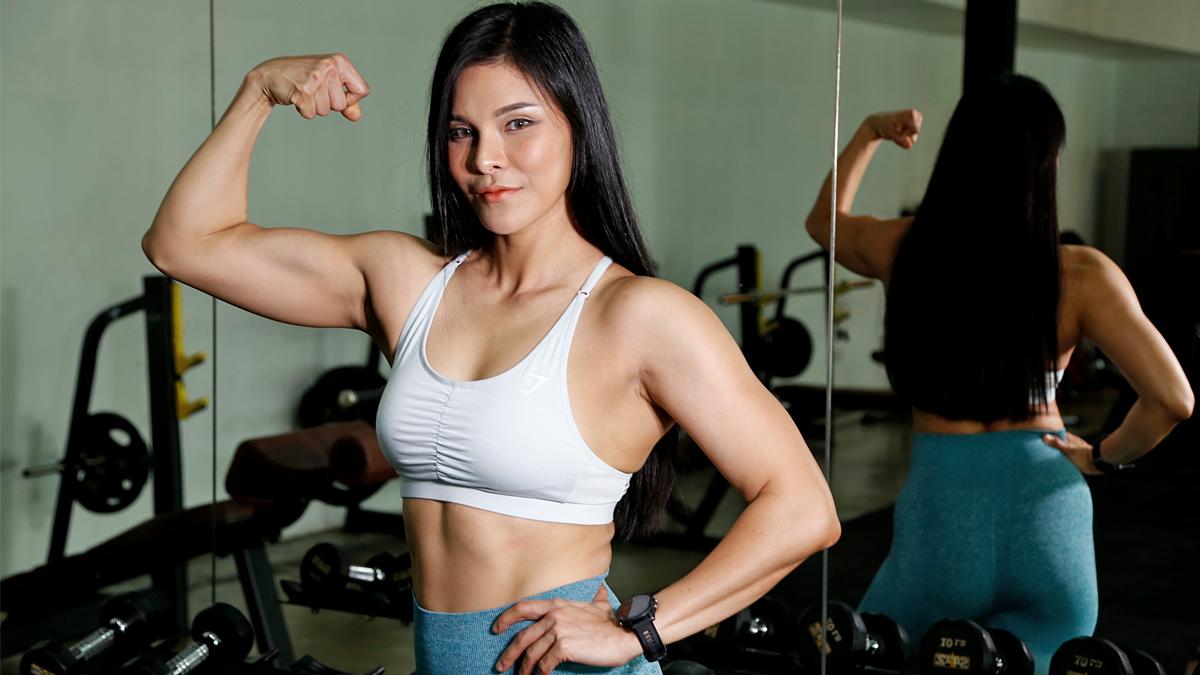 the master กวาง ญาณินี กีฬาเพาะกาย นักเพาะกายหญิง พริตตี้ เพาะกาย แชมป์โลกเพาะกาย