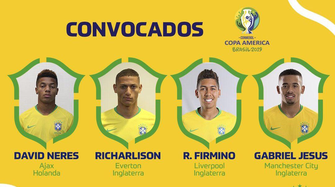 ทีมชาติบราซิล ฟาบินโญ่ ลูคัส มูร่า โคปา อเมริกา 2019