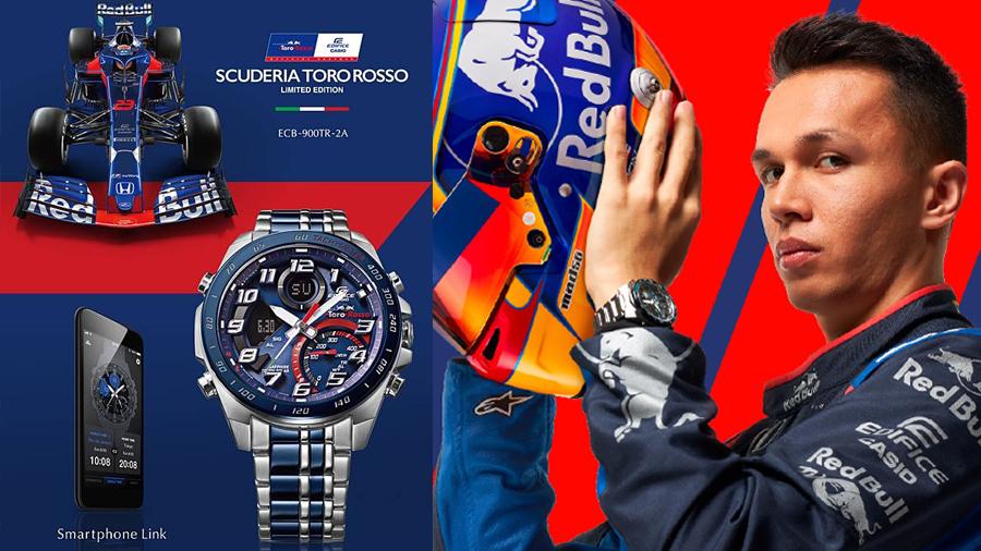 Alex Albon Ansusinha ECB-900TR-2A EDIFICE EFR-564TR-2A EQS-920TR-2A Formula 1 Scuderia Toro Rosso watch นาฬิกา รถยนต์สูตร 1 อเล็กซ์ อัลบอน อังศุสิงห์