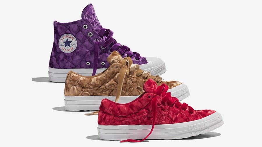 Chuck 70 converse fashion GOLF le FLEUR One Star Quilted Velvet Sneaker Tyler The Creator รองเท้า สนีกเกอร์ แฟชั่น